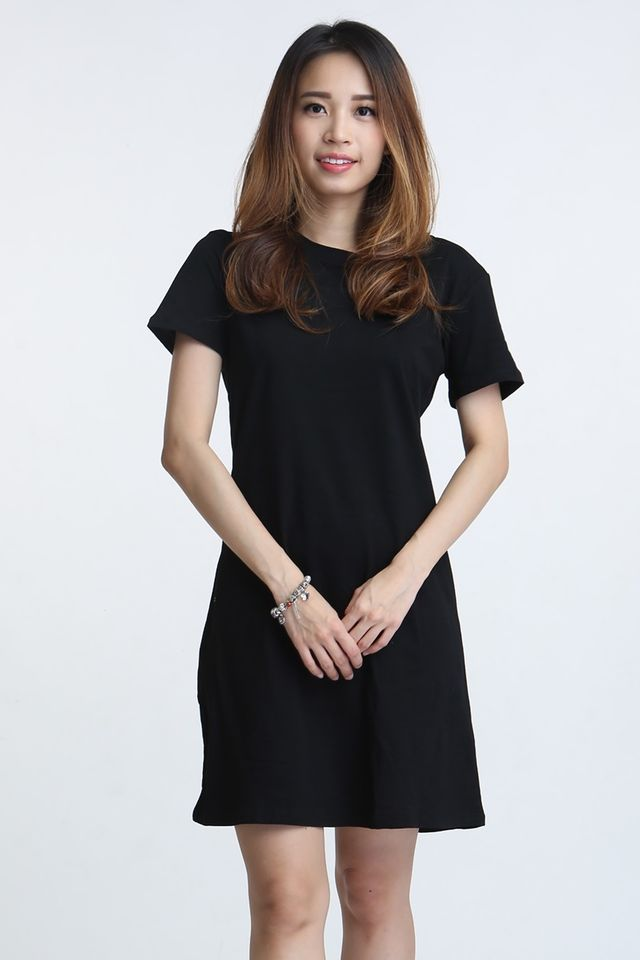 SG IN STOCK - WALID SHIFT DRESS IN BLACK