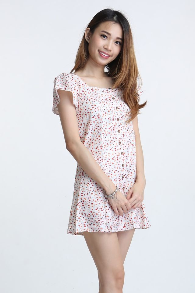 SG IN STOCK - JAFFER FLORAL DRESS IN BEIGH
