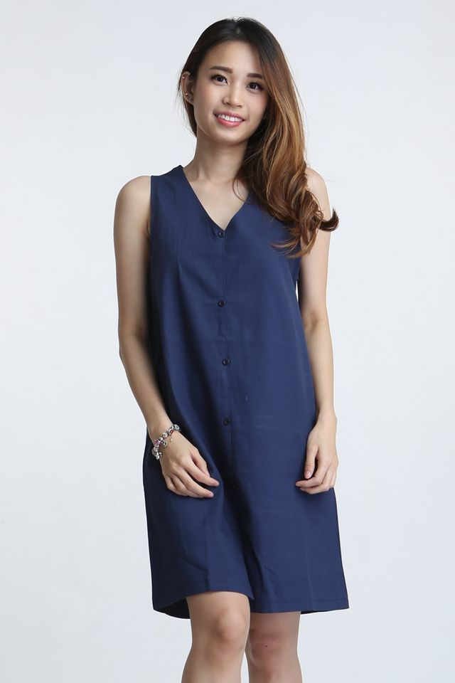 BACKORDER - VICTOR SHIFT DRESS IN BLUE