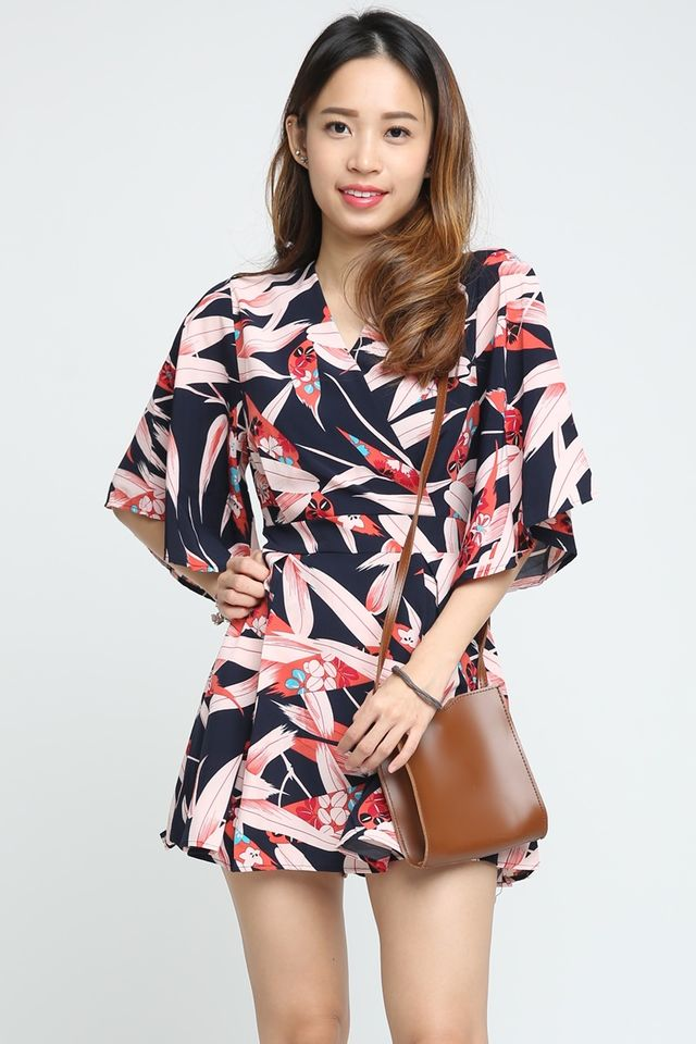 SG IN STOCK - TYLER PRINTED DRESS WITH INNER PANTS