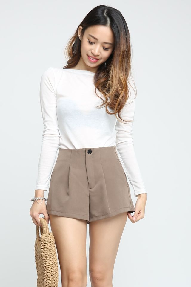 SG IN STOCK - RYLEE LONG SLEEVE WHITE TOP