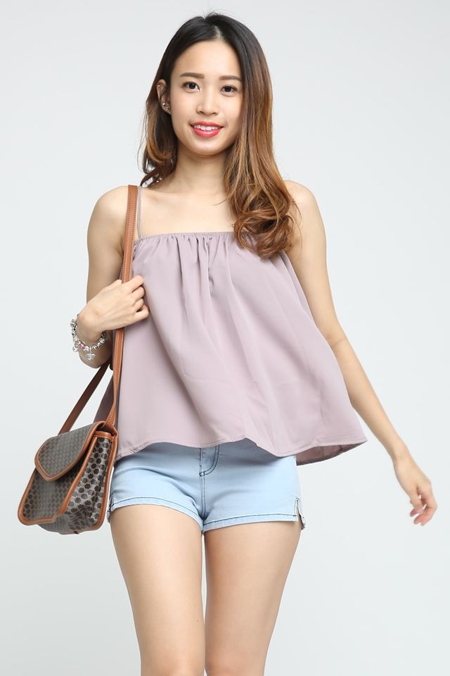 SG IN STOCK - FELIX SPAG TOP IN DULL PURPLE