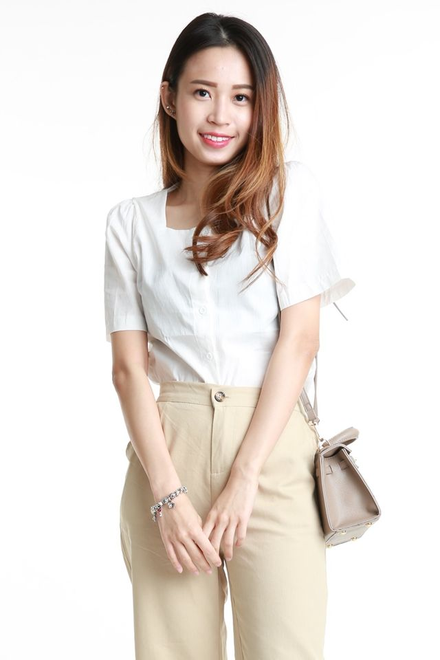 SG IN STOCK - RUBY BLOUSE IN WHITE