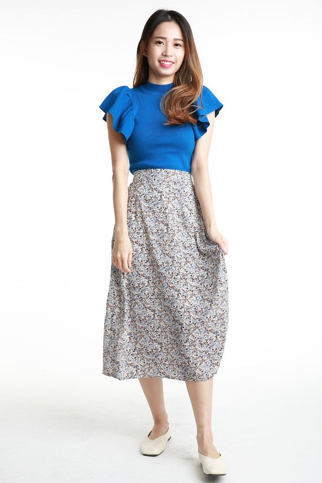 SG  IN STOCK - ARES FLORAL SKIRT