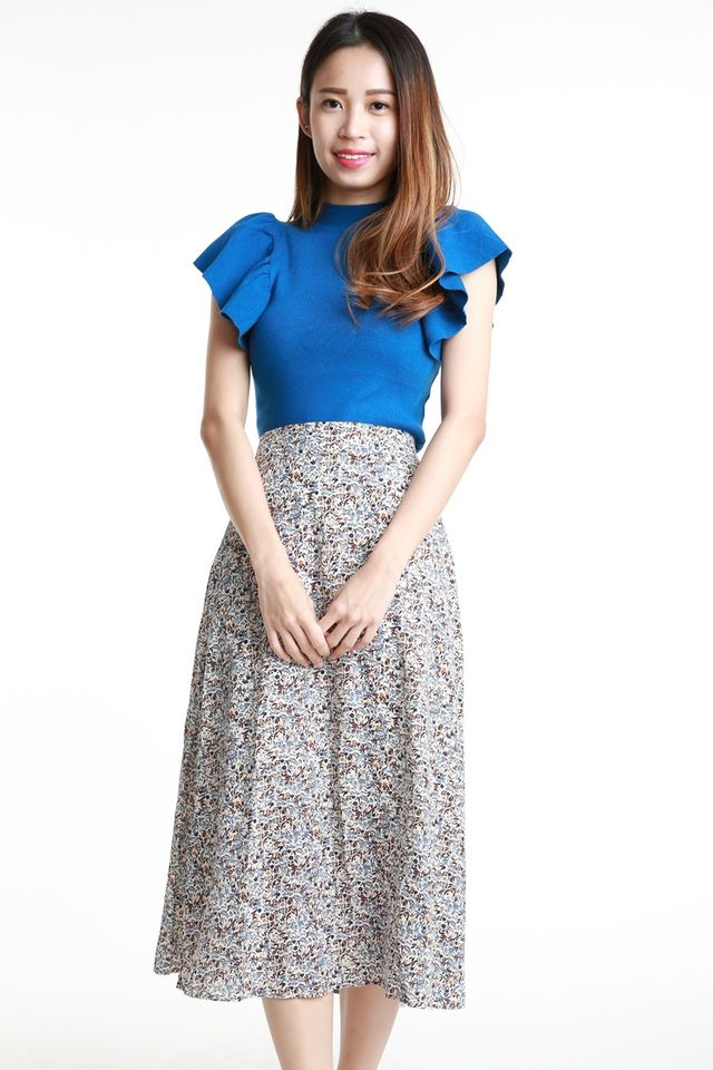 IN STOCK - RES KNIT TOP IN BLUE