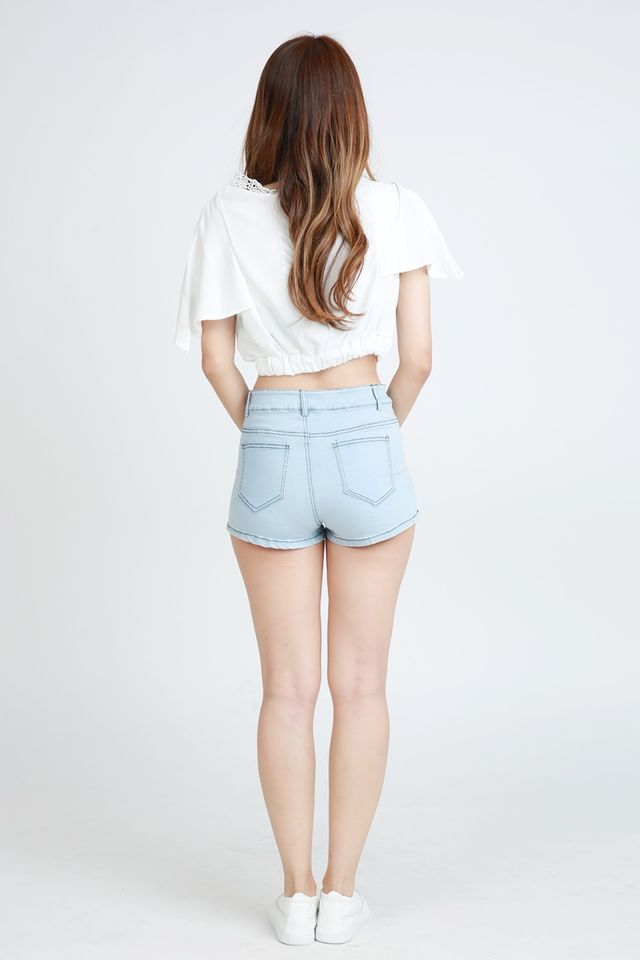 BACKORDER - KENNETH SHORTS PANTSIN LIGHT BLUE