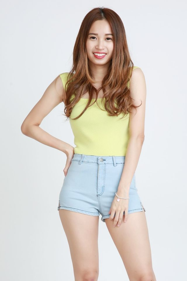 BACKORDER- ALFRED TOP IN LIME YELLOW