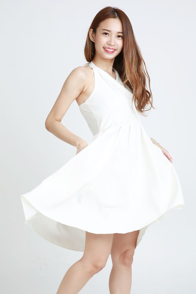 SG IN STOCK - CASSIUS HALTER DRESS IN WHITE