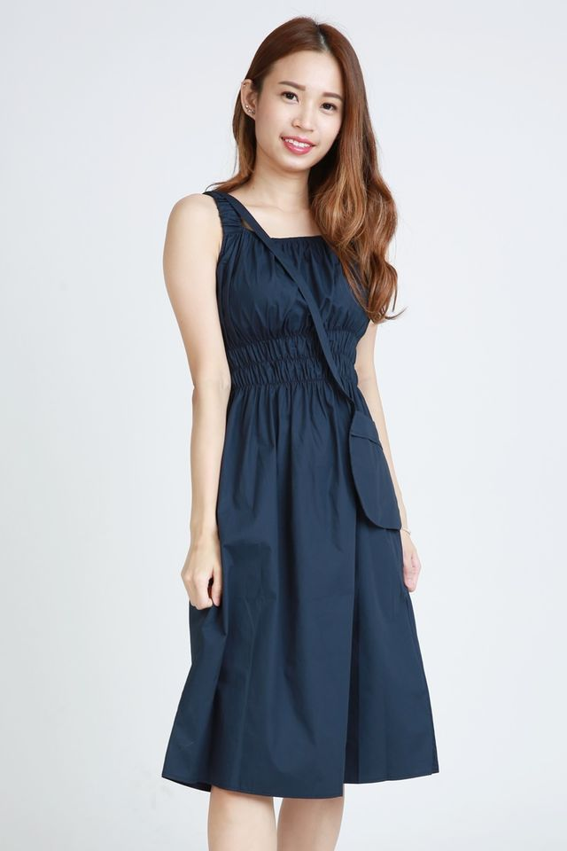 SG IN STOCK - AUGUST  LONG DRESS IN NAVY
