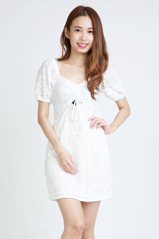 SG IN STOCK - MALEKO LACE DRESS IN WHITE