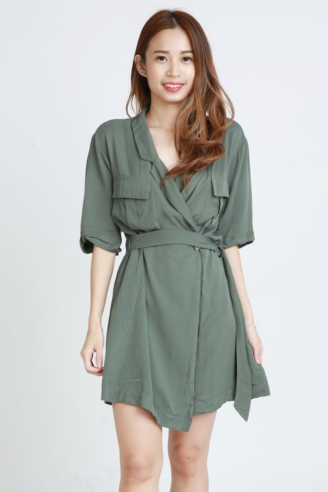 BACKORDER - MACSEN DRESS IN GREEN