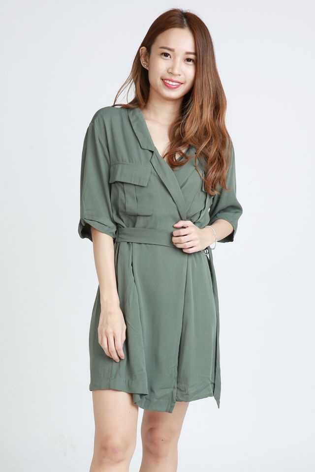 BACKORDER - MACSEN DRESS IN GREEN