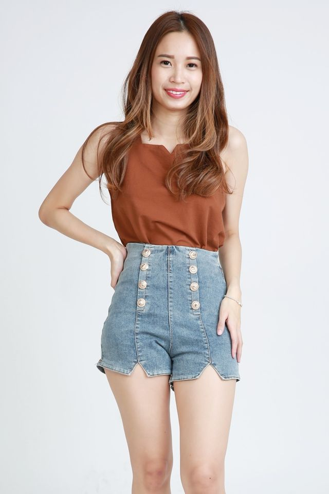 BACKORDER - ESAU TOP IN BROWN