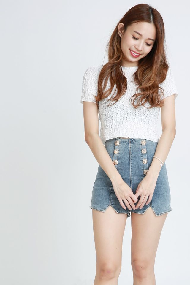 SG IN STOCK  - THANYER LACE TOP IN WHITE