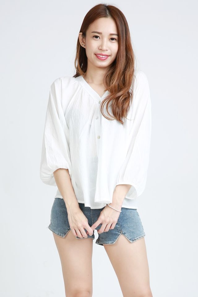 BACKORDER - CULLEN BLOUSE IN WHITE