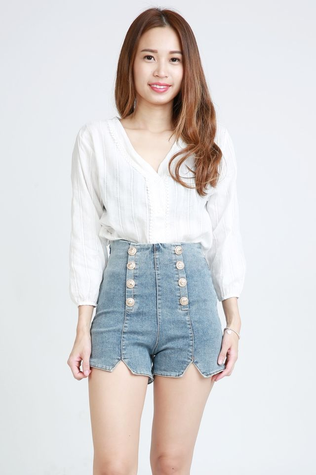SG IN STOCK  - CAREY BLOUSE IN WHITE