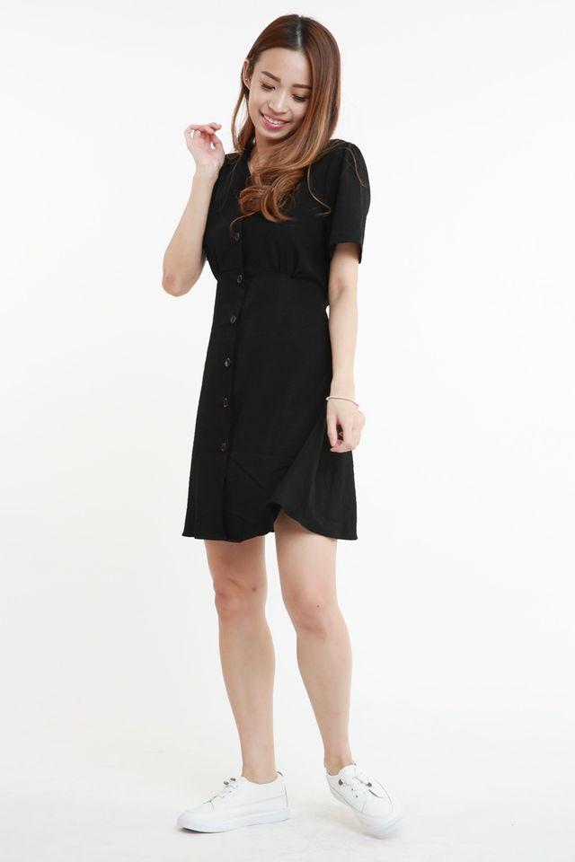 BACKORDER - WERONA DRESS IN BLACK