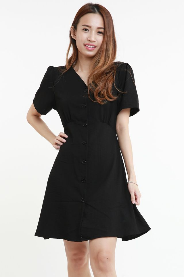 BACKORDER - WERONA DRESS IN BLACK