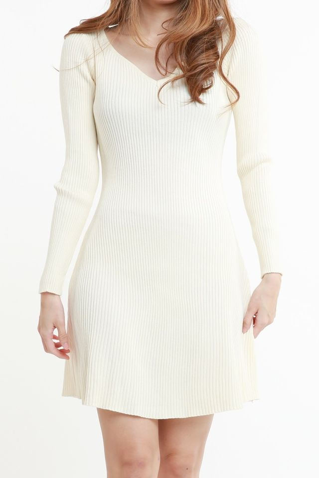 SG IN STOCK - VERON KNIT DRESS IN NUDE BEIGH