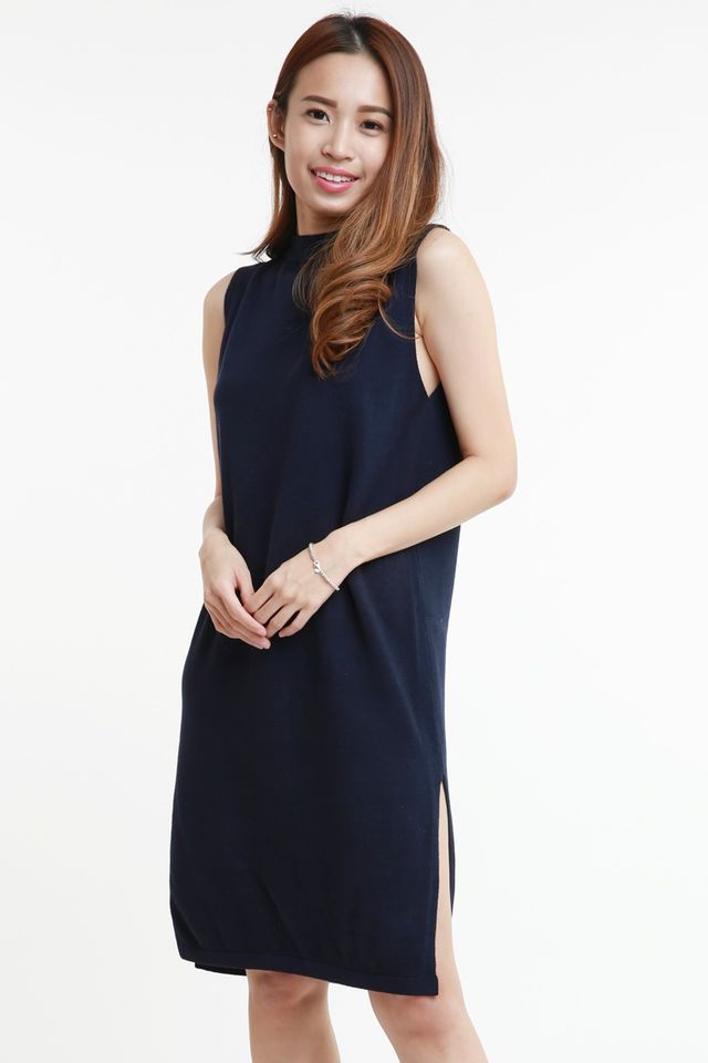 SG IN STOCK - BELLA  KNIT DRESS IN NAVY