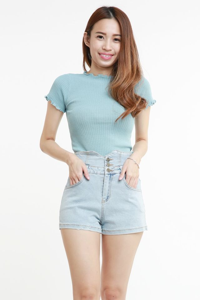 BACKORDER- EDEN KNIT TOP IN BLUE