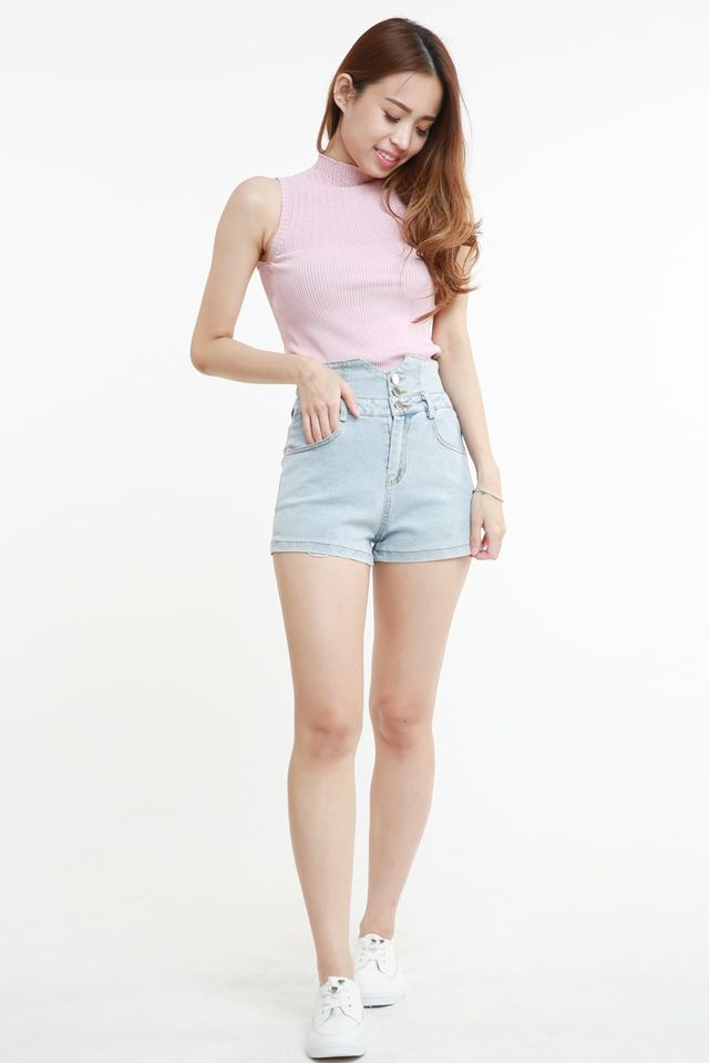 SG  IN STOCK - ELLIOET KNIT TOP IN PINK