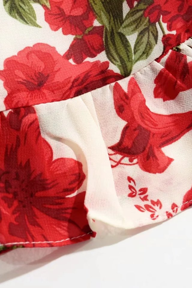IN STOCK - KASPER FLORAL DRESS IN RED FLORAL